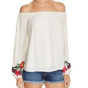 Lovers + Friends Over The Sea Embroidered Blouse